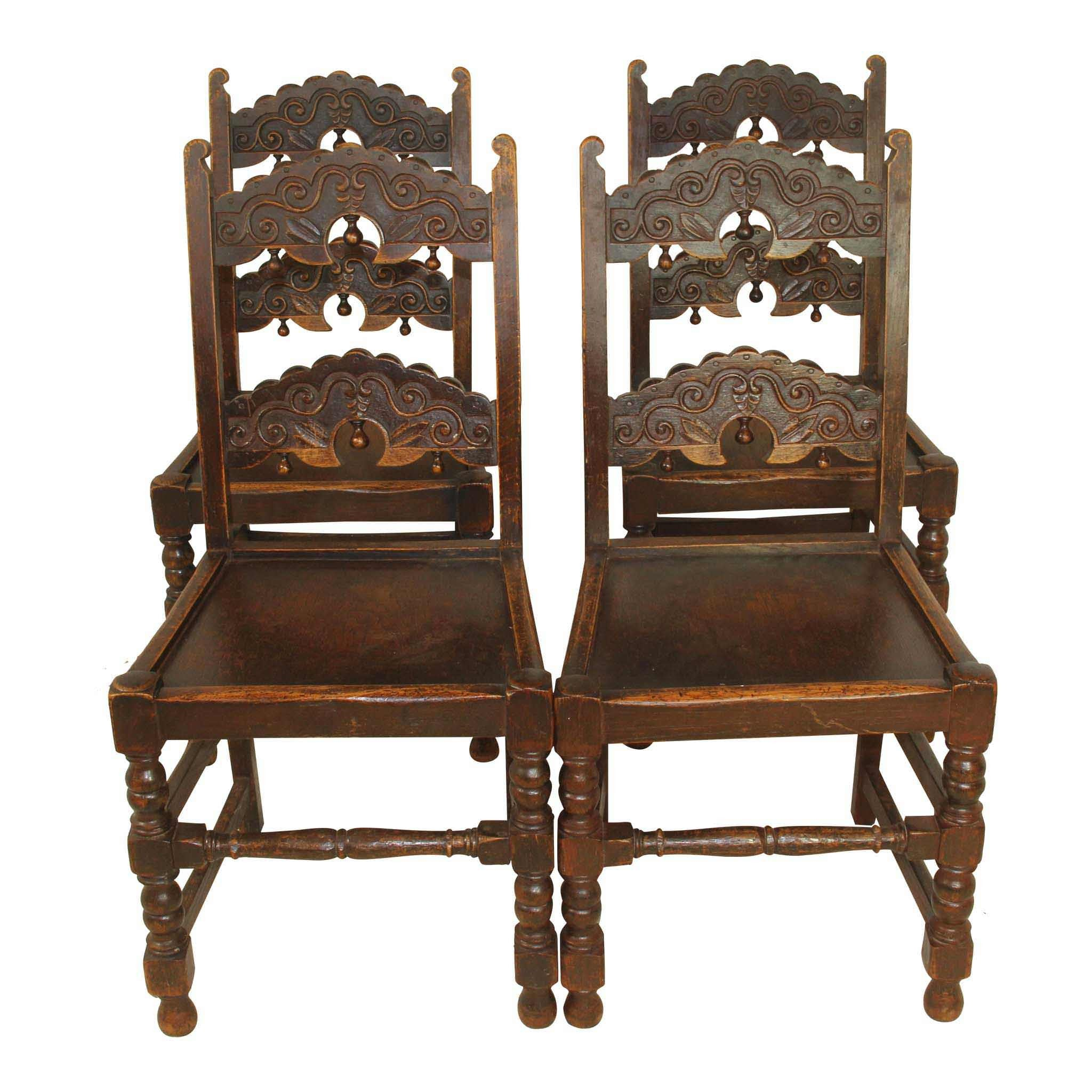 Wooden Chairs Set/4