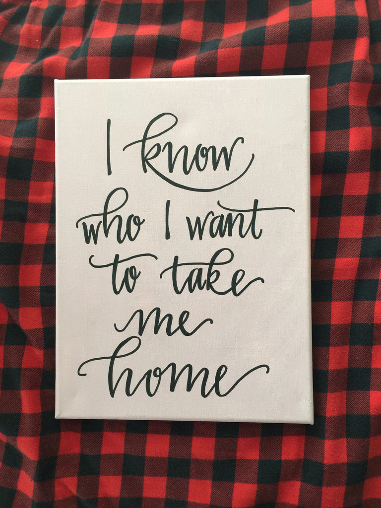 Take Me Home Canvas