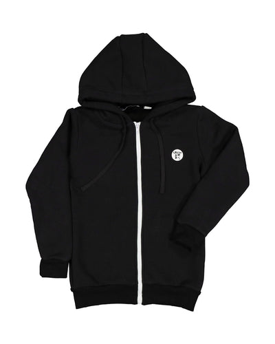 RT0613 TRIBE ZIP THROUGH HOOD IN BLACK