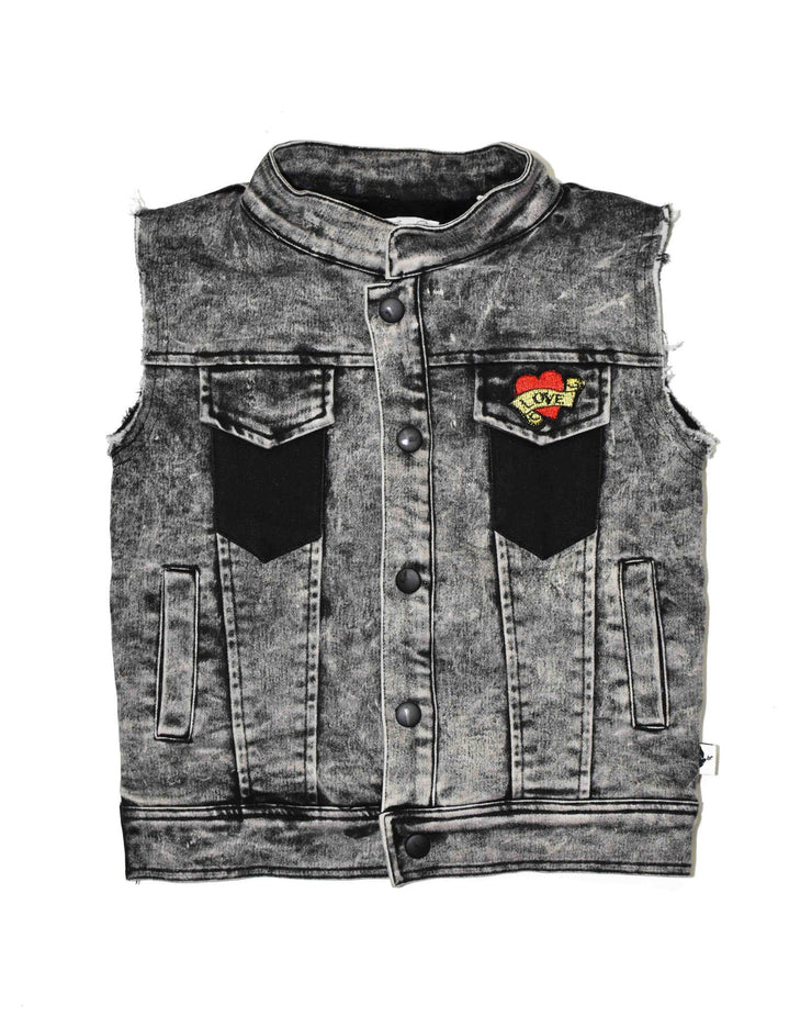 KR0725 GIRL SQUAD VEST  in ACID