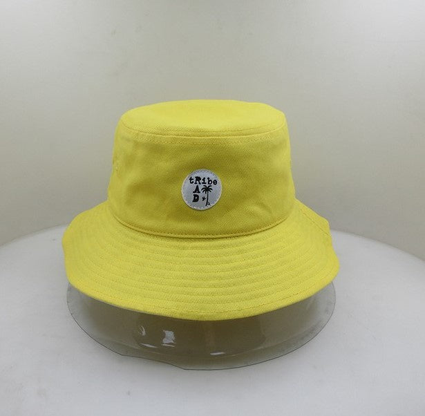 RT0708 RAD TRIBE REVERSIBLE BUCKET HAT IN YELLOW
