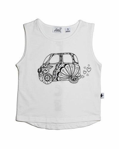 2 KR0623 CALI DREAMIN' TANK in WHITE