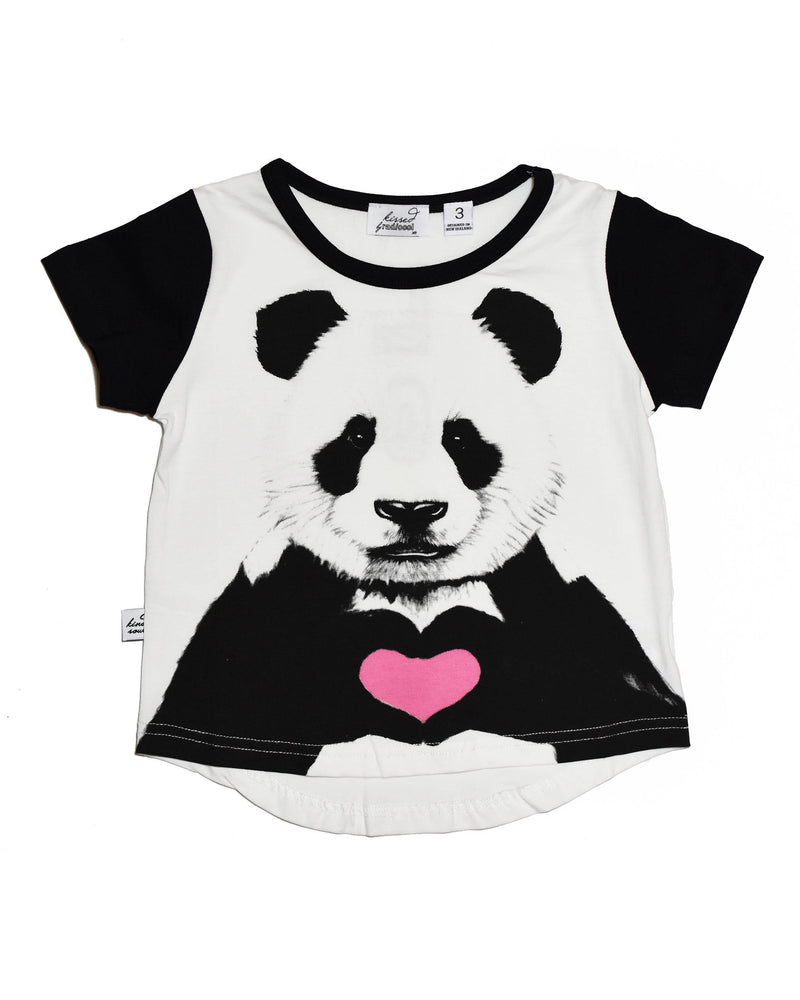 3 KR0612 PANDA EYES TEE IN WHITE