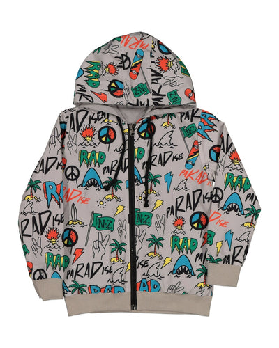 RD1414 BEACHED GRAFFITI REVERSIBLE JACKET