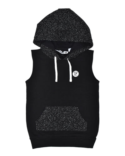 RT0403 TRIBE S/S HOOD in BLACK