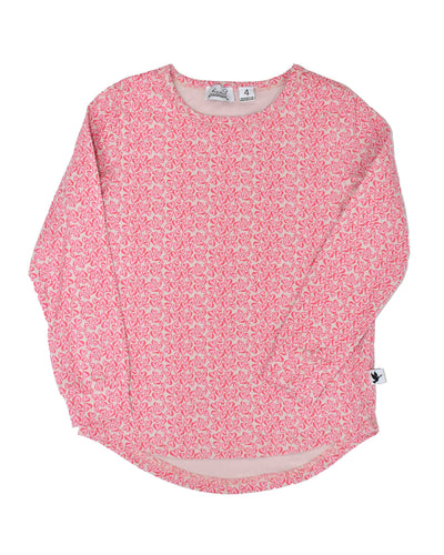 KR0923 HEARTS LONG SLEEVE TEE in BLUSH