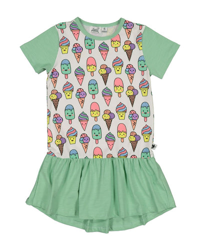 KR1343 MINT CHOC CHIP DRESS