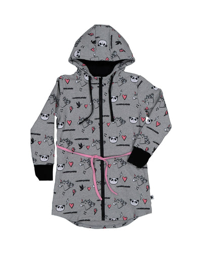 KR1237 UNICORN PANDA LONG HOOD