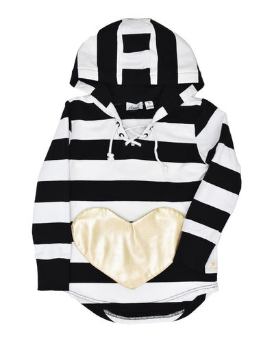 KR0913 HEART OF GOLD HOOD in ZEBRA