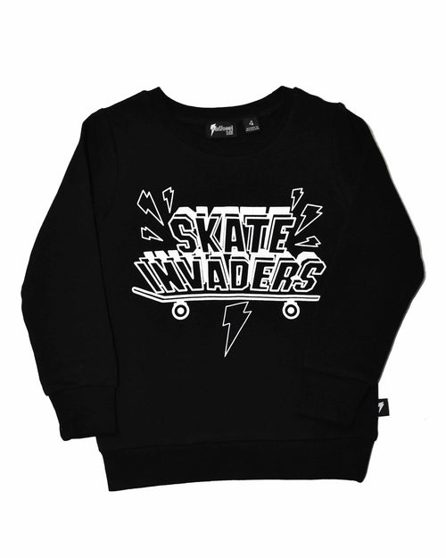 0 RD0926 SKATERS CREW in BLACK