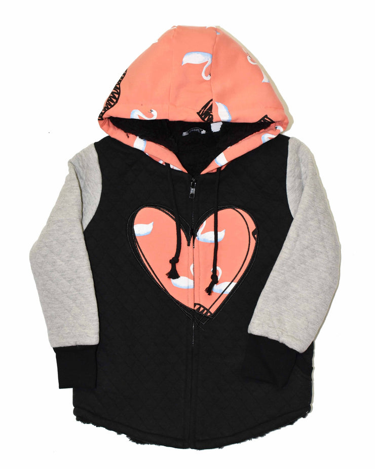 KR0735 HEART LIFE  JACKET in SHERBET