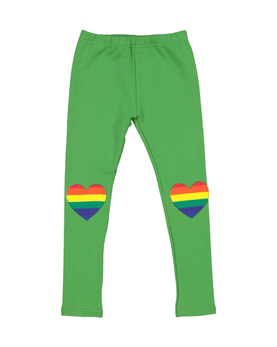 KR1202 RAINBOW HEART LEGGING IN APPLE