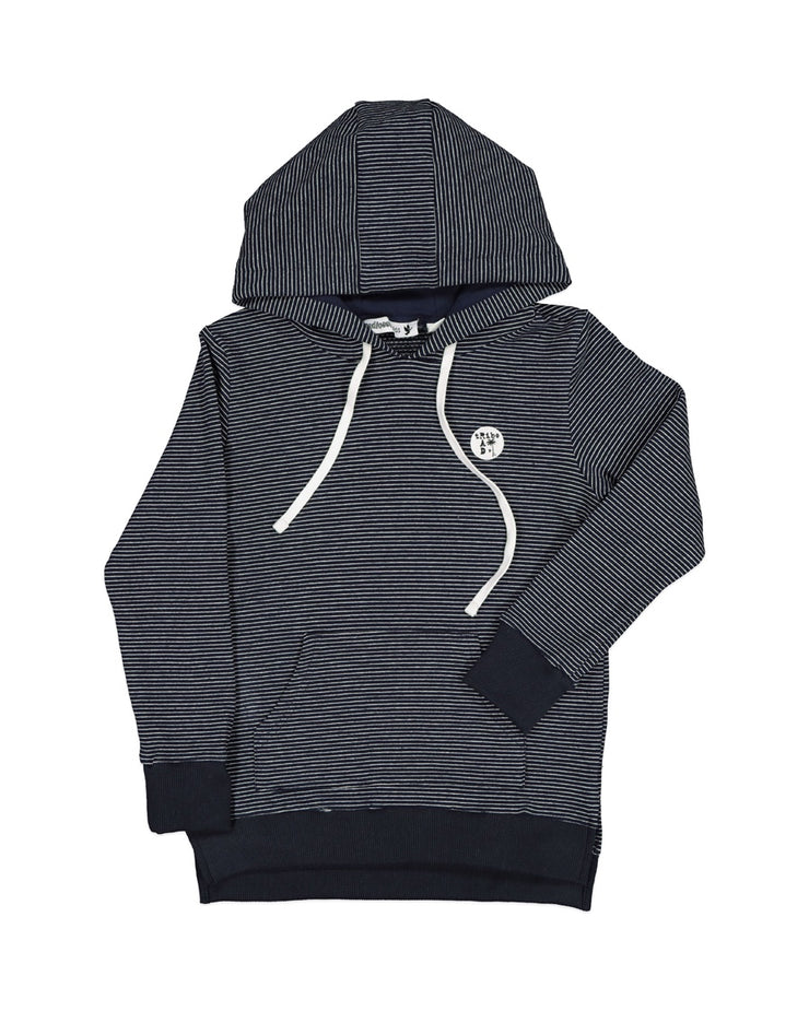 RT0612 TRIBE HOOD IN NAVY STRIPE