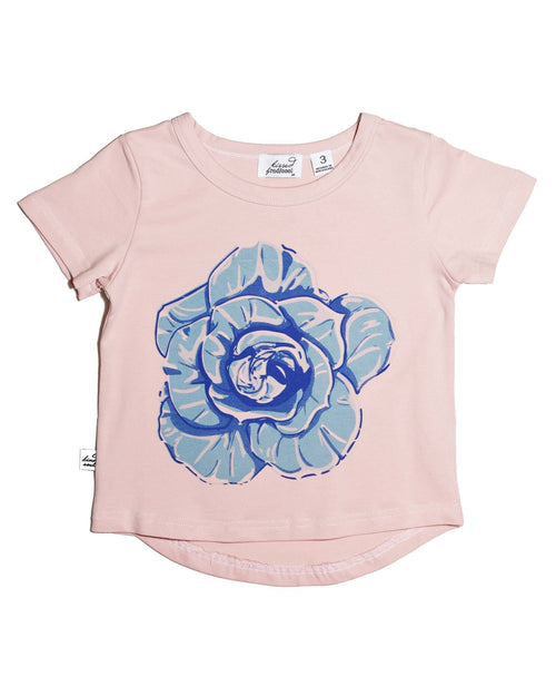 3 KR0601 FLOWER POWER TEE IN DUSTY