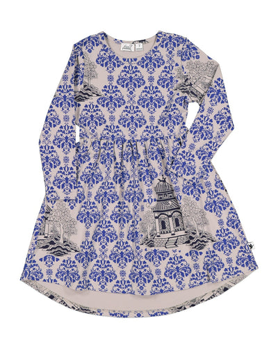 KR1212 ORIENTAL BLUE DRESS