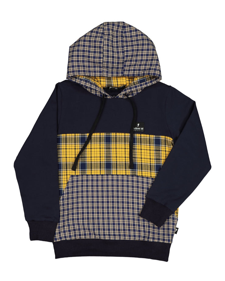 RD1313 MIXED UP PLAID HOOD