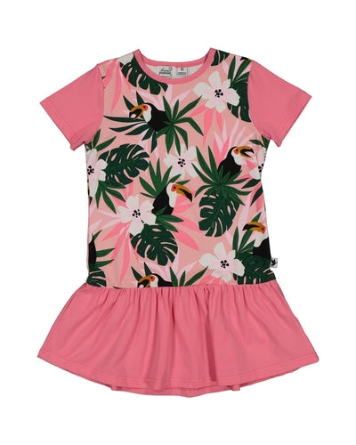 KR1334 TOUCAN FRILL DRESS