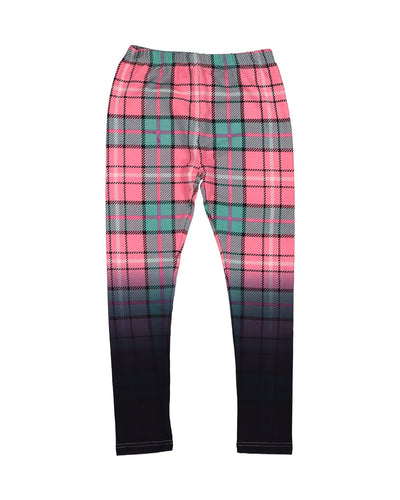 KR1219 DIP DYE PLAID LEGGING