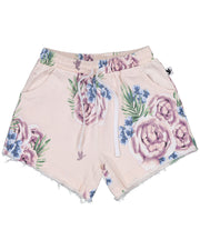 KR1126 BOUQUET DENIM SHORTS