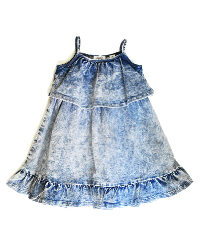 2 KR0625 INDIE DENIM DRESS in ACID
