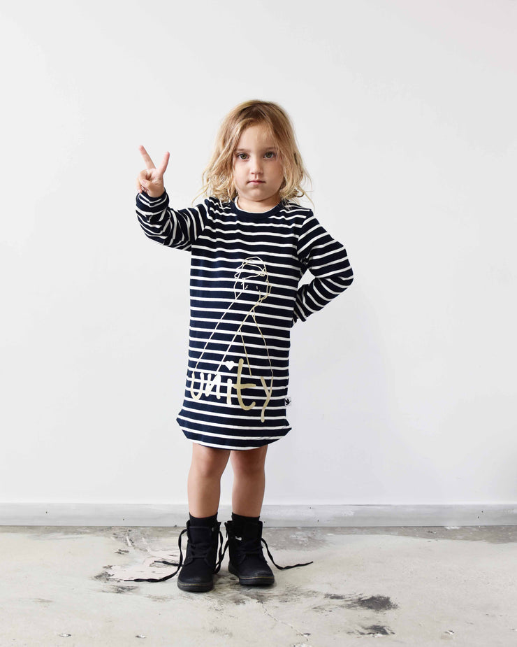 KR0705 UNITY TEE DRESS in STRIPE