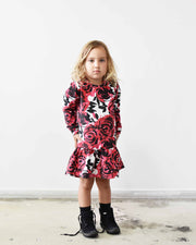 KR0722 ROSE GARDEN DRESS in FLORAL