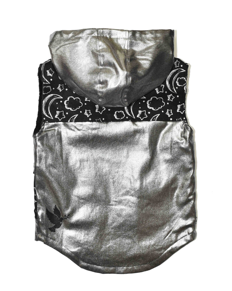 KR0731 SHINE ON VEST in SILVER