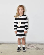 KR0915 FLY AWAY TEE DRESS in ZEBRA
