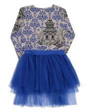 KR1215 ORIENTAL BLUE TUTU DRESS