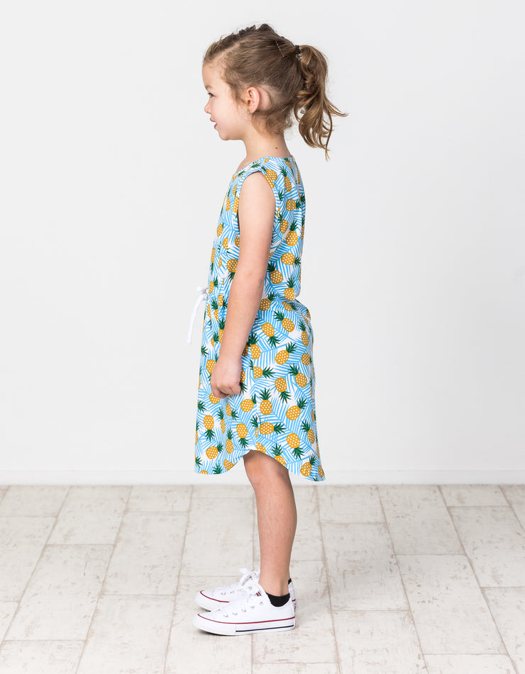 KR1322 PINEAPPLE RESORT DRESS