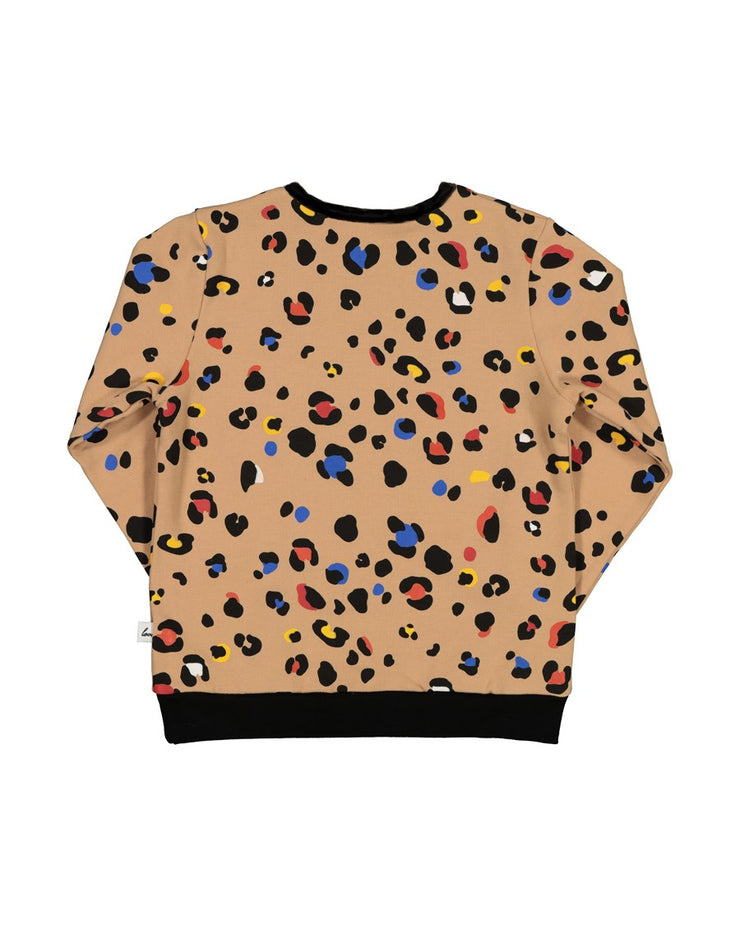 KR1413 COLOUR POP LEOPARD CREW