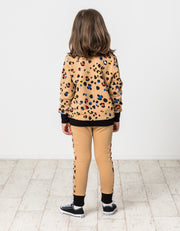 KR1414 COLOUR POP LEOPARD PANEL PANT