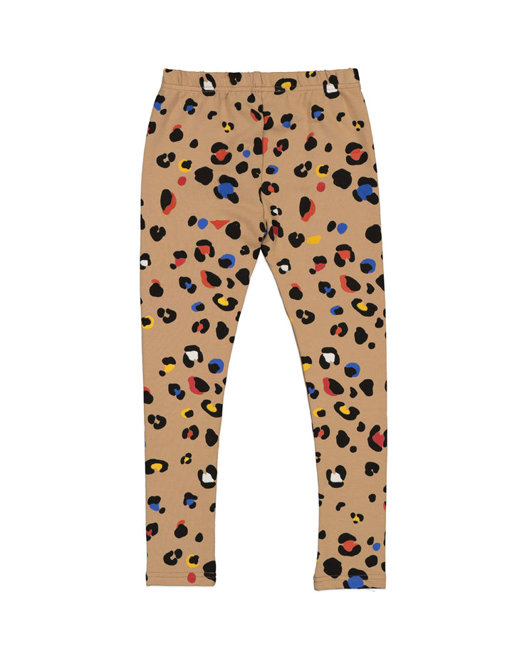KR1416 COLOUR POP LEOPARD LEGGING
