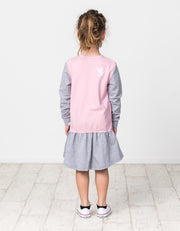 KR1419 TRIPLE BUNNY L/S FRILL DRESS