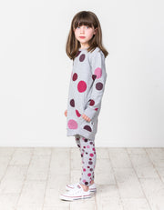 KR1450 WINTER BERRY POLKA DOT SWEATER DRESS