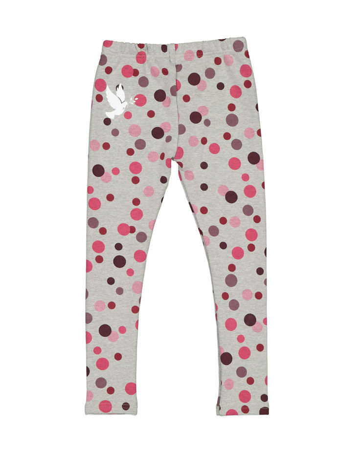 KR1451 WINTER BERRY MINI POLKA DOT LEGGING