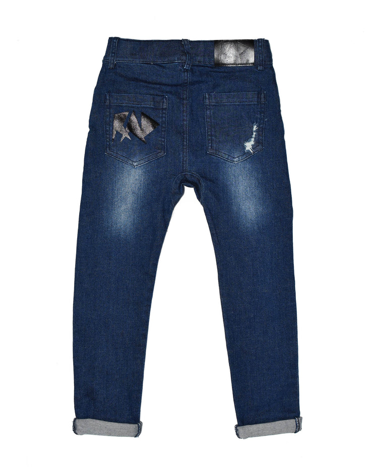 1 RD0922 RAMONES DEMIN JEAN in ROCKER BLUE