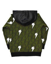 RD0931 LIGHTS ON ZIP HOOD in OLIVE