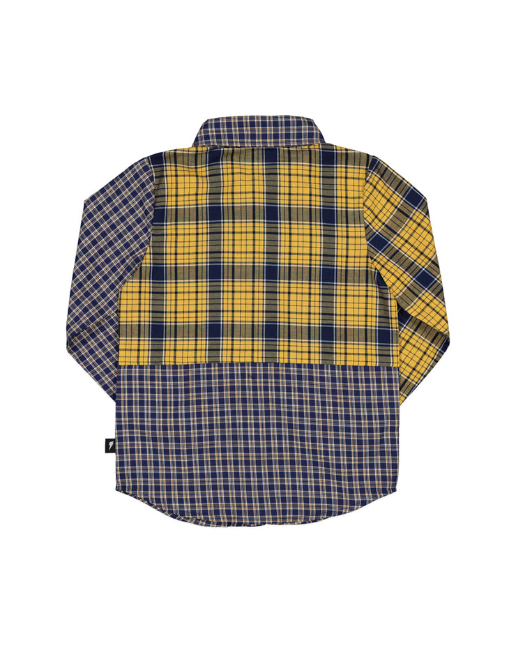 RD1311 MIXED UP PLAID SHIRT