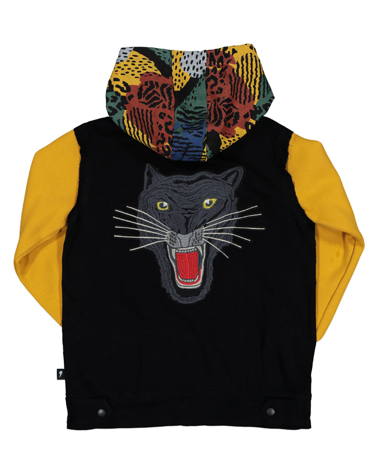 RD1325 JUNGLE PANTHER DENIM HOOD