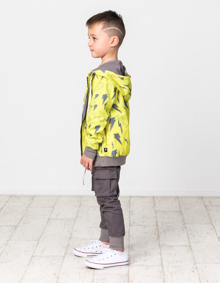 RD1507 NEON BOLT REVERSIBLE JACKET