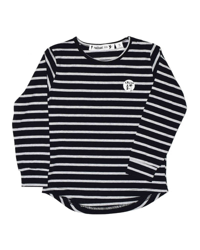 RT0201 TEE in BLACK STRIPE