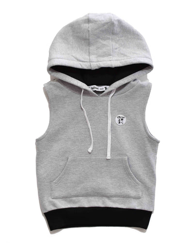 RT0203 SLEEVELESS HOOD in GREY