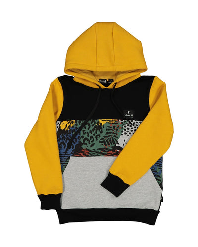 RD1323 JUNGLE CAMO STACK HOOD