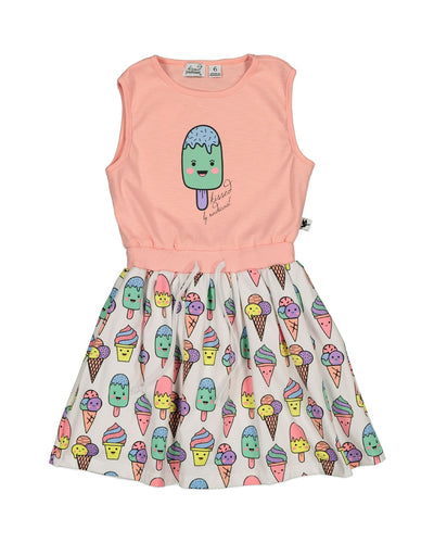 KR1342 HAPPY POPSICLE DRESS