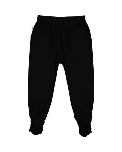 KR1407 SLOUCH PANTS IN BLACK