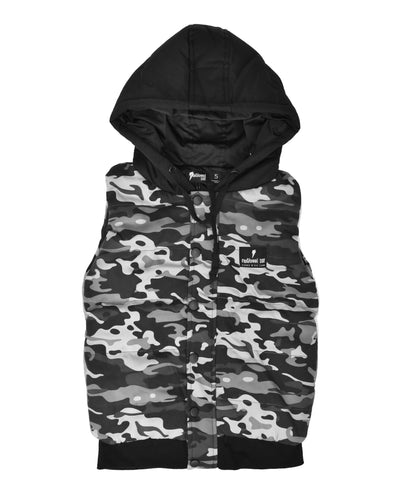 RD1110 PUFFED VEST in CAMO NIGHTS