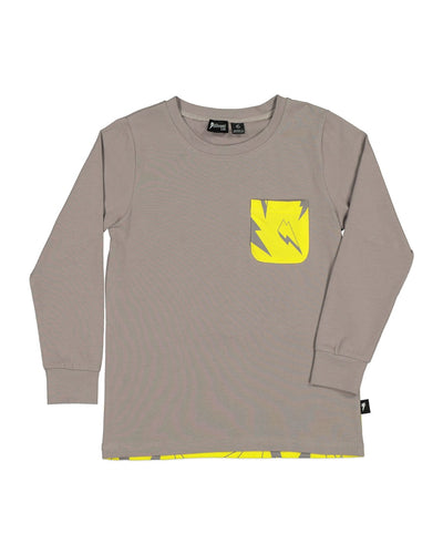 RD1501 NEON BOLT POCKET L/S TEE