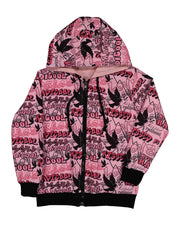 KR1311 PEACE GRAFFITI REVERSIBLE JACKET