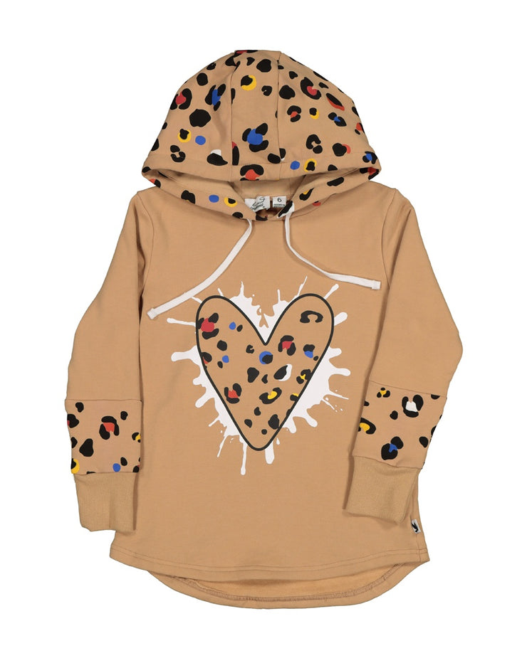 KR1409 COLOUR POP LEOPARD HEART HOOD